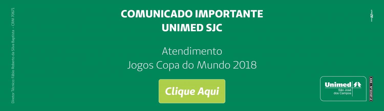 Comunicado Atendimento Copa do Mundo 2018