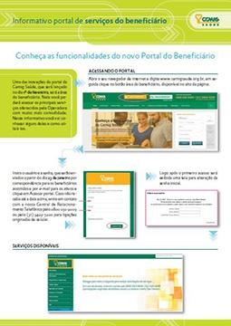 Informativo portal de serviços do beneficiário